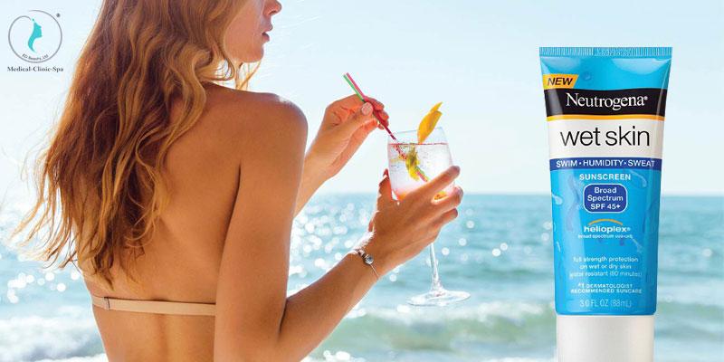 Công dụng cuả kem chống nắng Neutrogena Wet Skin Sunscreen Lotion SPF 45+