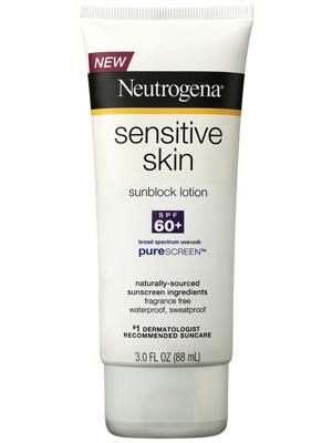 Kem chống nắng Neutrogena Sensitive Skin Sunscreen Lotion SPF 60.