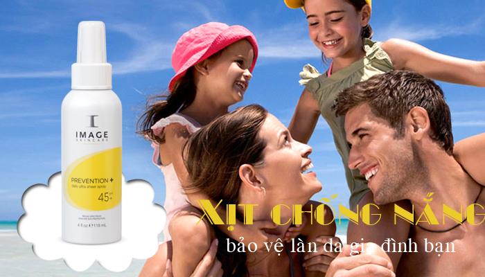 Công dụng của xịt chống nắng Image Prevention+ Ultra Sheer Spray SPF 45