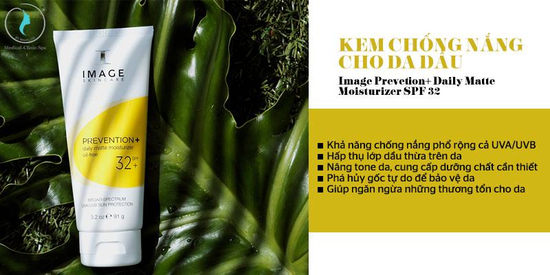 Công dụng của kem chống nắng da dầu Image Prevetion+ Daily Matte Moisturizer SPF 32