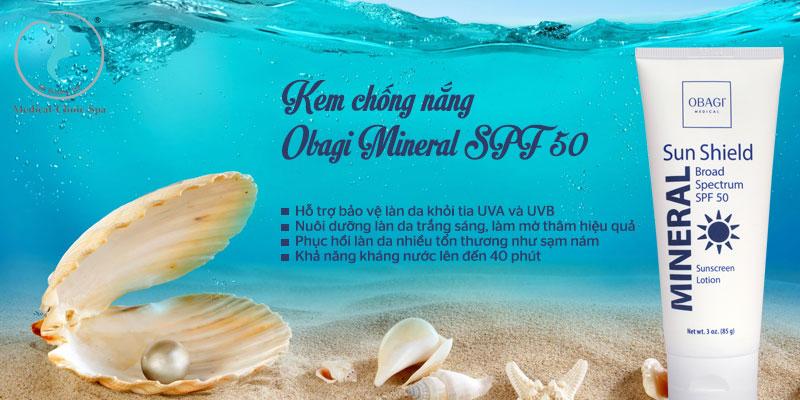 Công dụng của kem chống nắng Obagi Mineral SPF 50