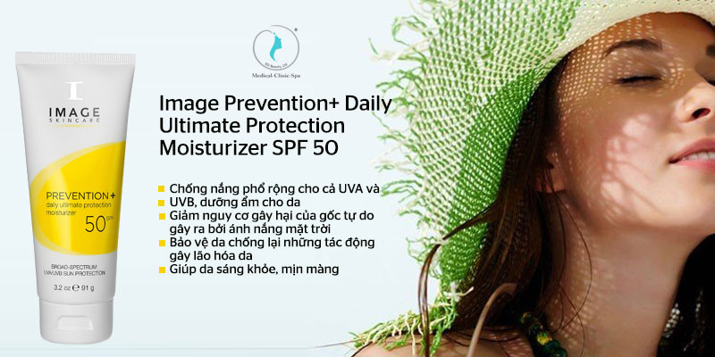 Công dụng của kem chống nắng Image Prevention+ Daily Ultimate Protection Moisturizer SPF 50